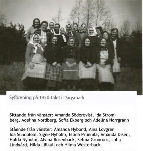 Syföreningens aktiva damer på 50-talet.
