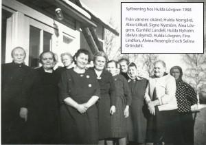 Syföreningsmöte hos Hulda Löfgren 1968.